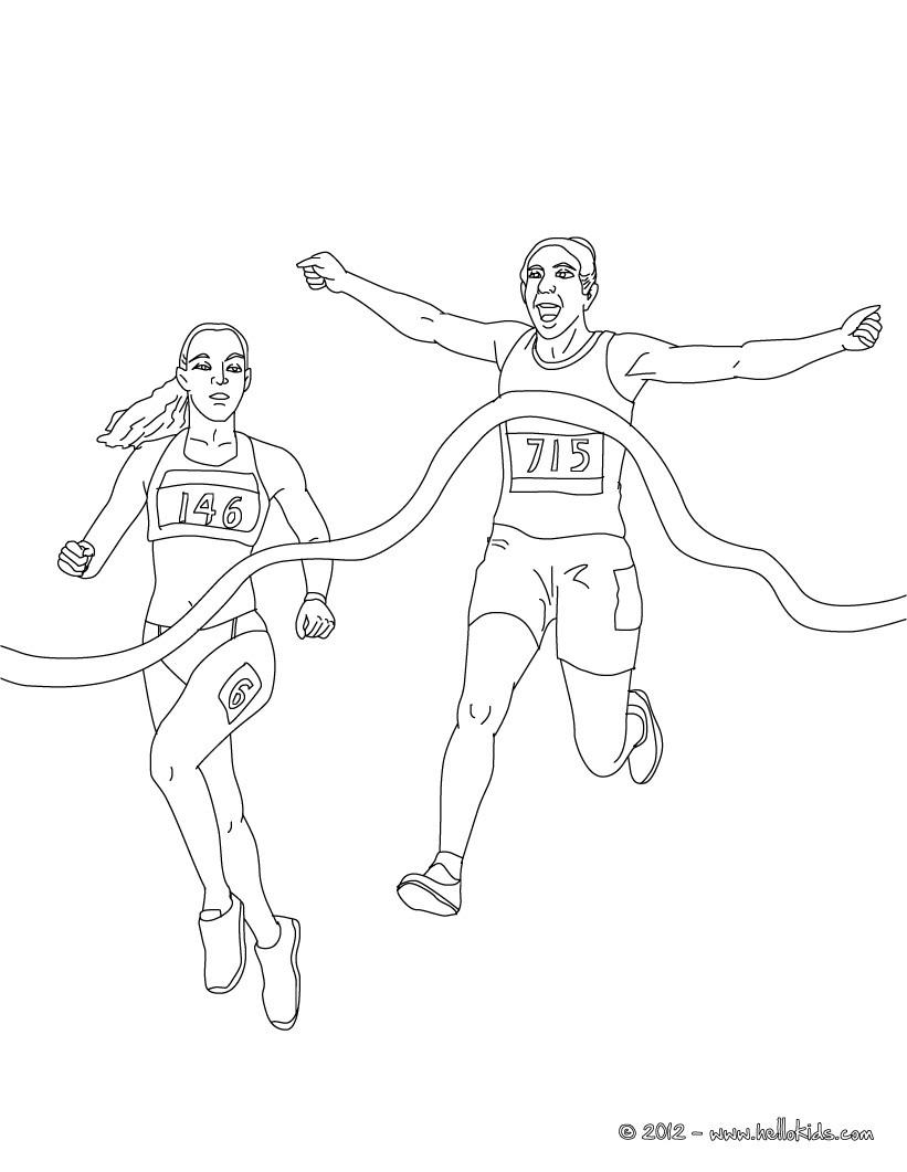 desenhos para colorir de linha de chegada nos jogos olimpicos para