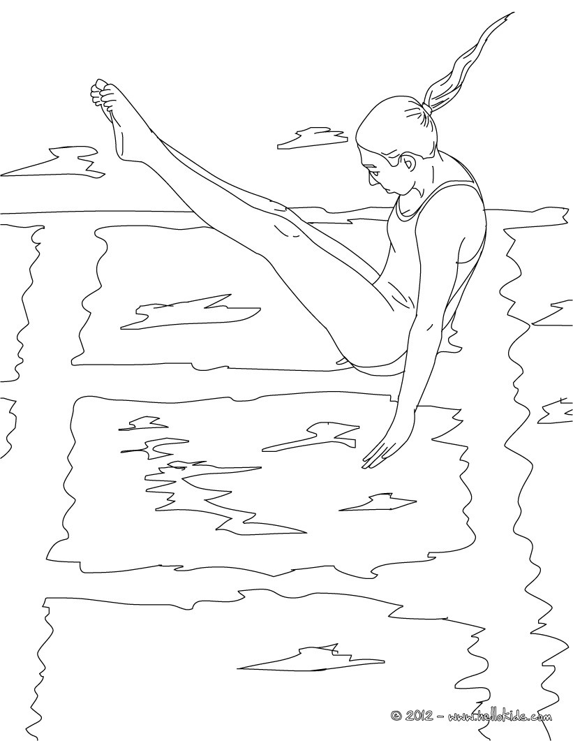 Desenhos Para Colorir De Mergulho Jogos Olimpicos Para Colorir Pt