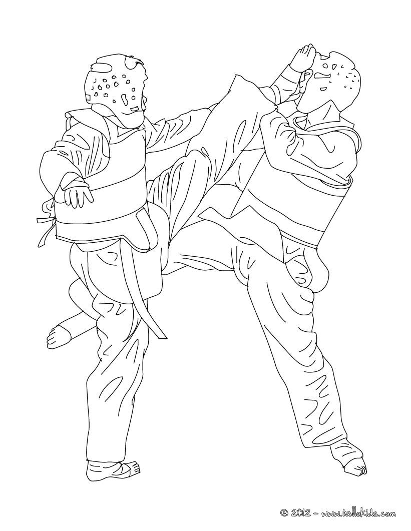 Desenho de TAEKWONDO para colorir