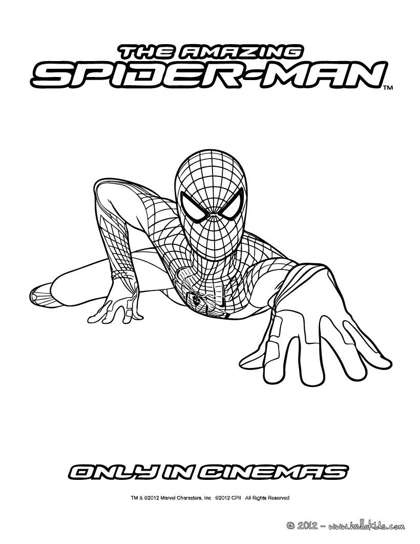 Desenho The Amazing Spiderman para pintar