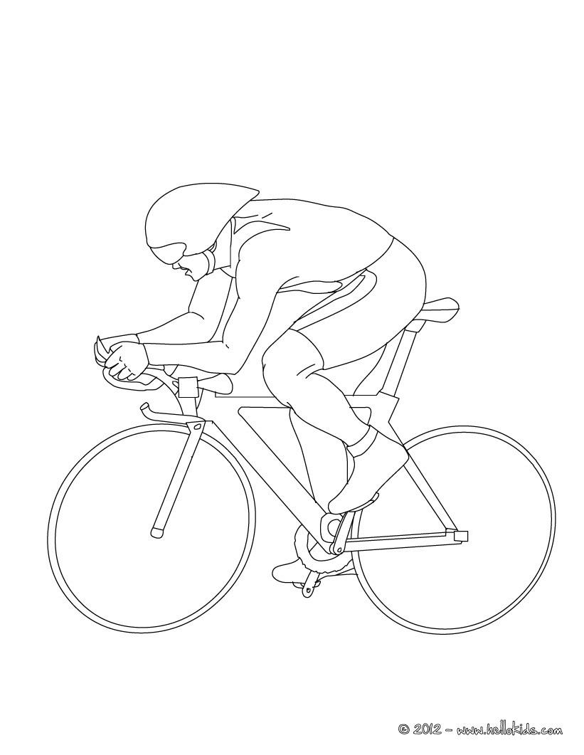 desenhos para colorir de desenho de pista de ciclismo para colorir