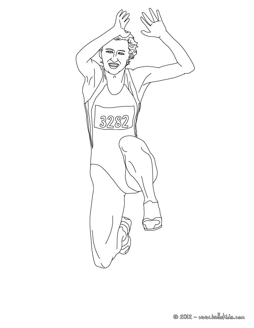 desenhos para colorir de desenho de corrida de obstaculos para