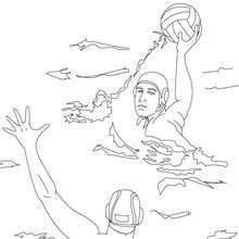 esporte, Desenho de PÓLO AQUÁTICO para colorir