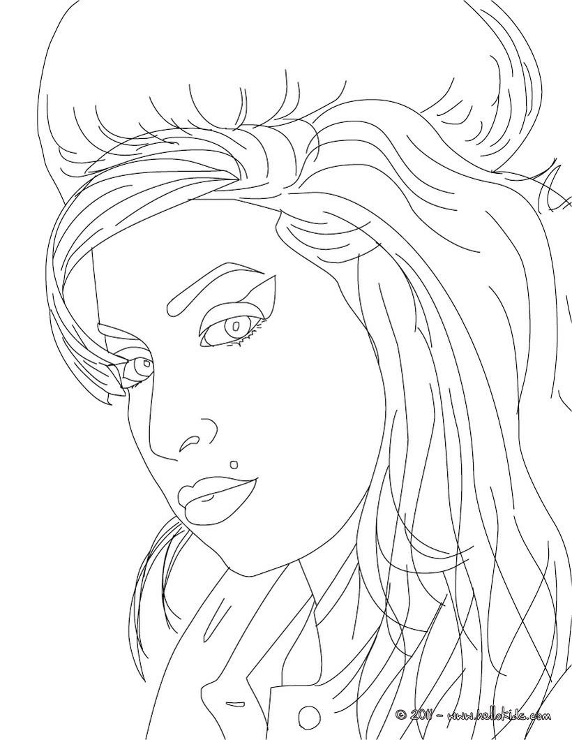 Desenhos Para Colorir De Desenho Da Cantora Amy Winehouse