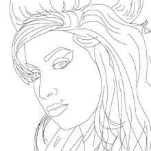 Desenho da cantora AMY WINEHOUSE para colorir