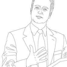 Desenho da PRIMEIRO MINISTRO DAVID CAMERON para colorir