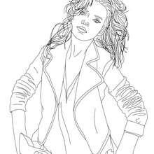 rei, Desenho da supermodelo KATE MOSS para colorir