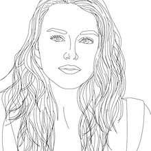 Desenho da atriz KEIRA KNIGHTLEY para colorir