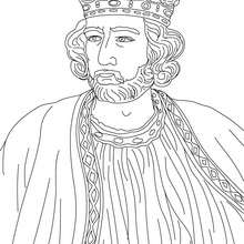 Desenho da REI EDUARDO I da Inglaterra para pintar