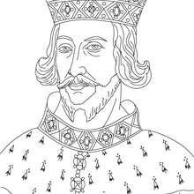 Desenho da REI ENRIQUE II da Inglaterra