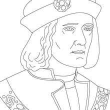 Desenho da REI RICARDO III da Inglaterra para colorir