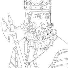 Desenho da REI ROBERT BRUCE para colorir