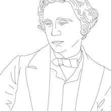 Desenho da escrito LEWIS CAROLL para colorir