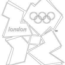 olímpico, Desenho de LOGOTIPO OLIMPICO DE LONDRES 2012 para colorir
