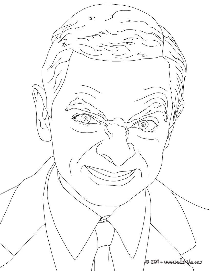 Desenhos Para Colorir De Desenho Da Mr Bean Para Colorir Pt