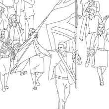 Desenho da Cerimônia de abertura dos Jogos Olímpicos de Verão para colorir
