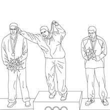 América, Desenho de ATLETAS recebem medalhas para colorir