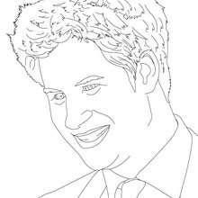 Desenho da PRINCÍPE HARRY DA PAÍS DE GALES para colorir
