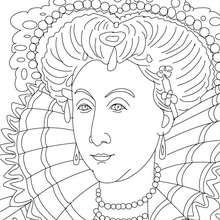 Desenho da RAINHA ELISABET I da Inglaterra para pintar