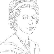 Desenho da RAINHA ELISABETH II para colorir