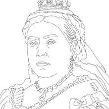 Desenho da RAINHA VITÓRIA para colorir