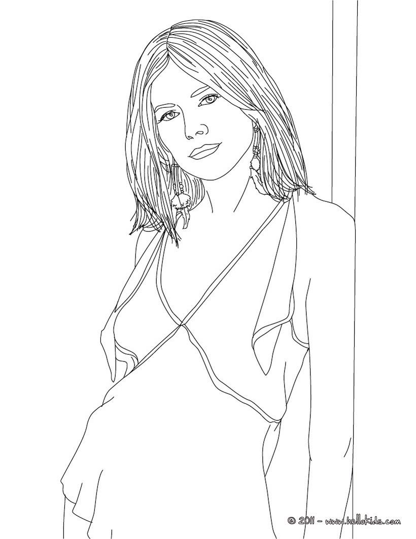 Desenhos Para Colorir De Desenho Da Sienna Miller Para