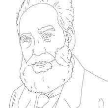 Desenho da inventor ALESANDRO GRAHAM BELL para colorir