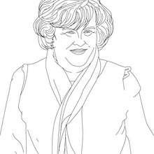 Desenho da SUSAN BOYLE para colorir