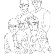 Desenho do grupo britânico THE BEATLES para colorir