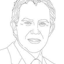 rei, Desenho da TONY BLAIR para colorir