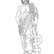 Desenho de ASCLEPIO deus da Medecina para colorir e pintar