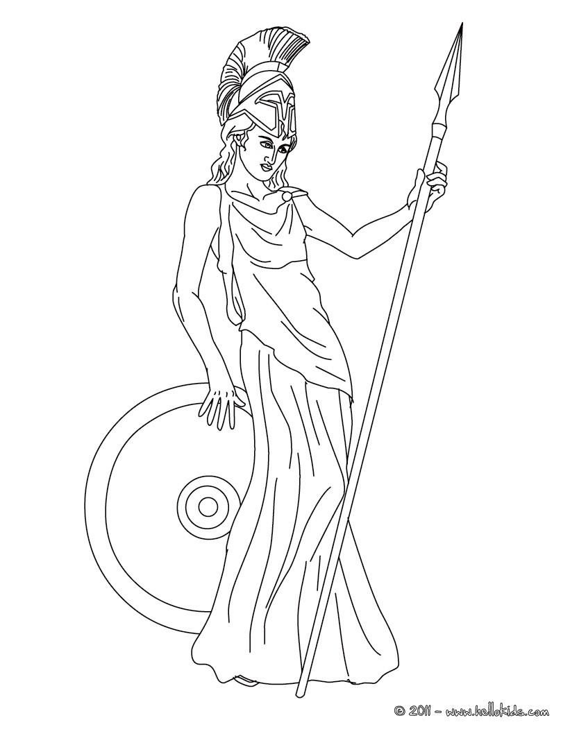 Desenhos para colorir de desenho da atena deusa grega da libertade ...