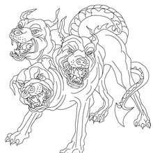Desenho de CERBERUS para colorir