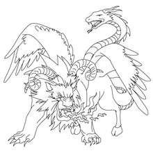 Desenho da CHIMERA para colorir