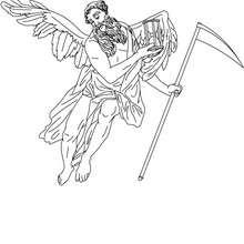 Desenho de CRONOS deus do tempo para colorir e pintar