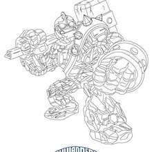 Desenho do CRUCHER para colorir Skylanders Giants