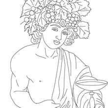 Desenho de DIONISIO deus grego para colorir e pintar