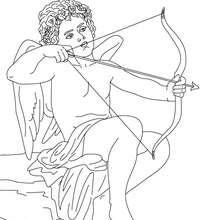Desenho de EROS deus do Amor para colorir e pintar