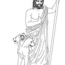 Desenho de HADES deus do mundo inferior para pintar e colorir