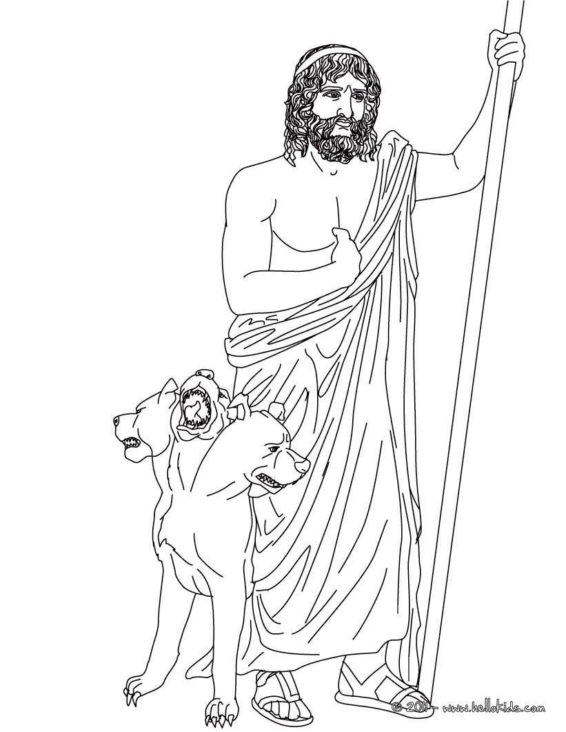 Desenhos Para Colorir De Desenho De Hades Deus Do Mundo Inferior