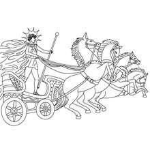 Desenho de HELIOS deus grego do Sol para colorir e pintar