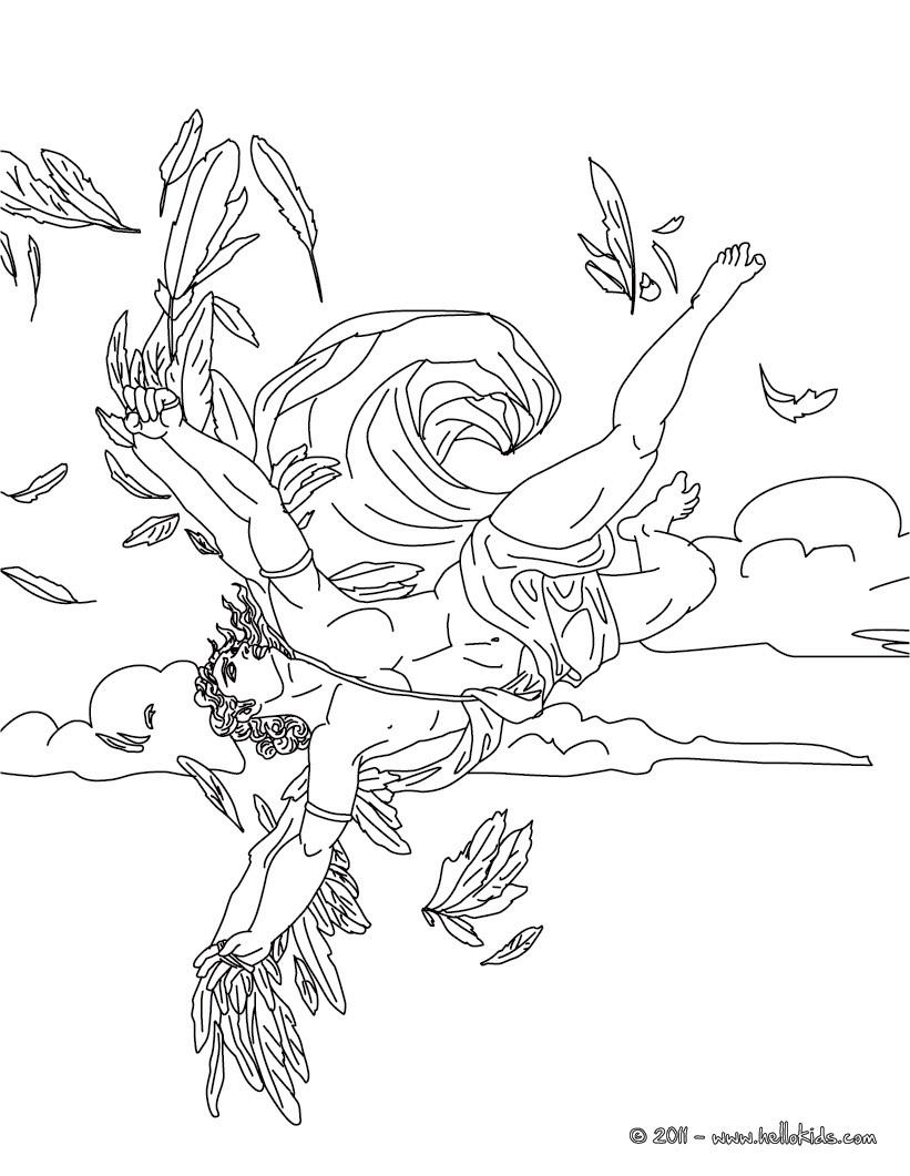 Desenho para colorir O MITO DE ICARO