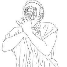 Desenho do Mito de Édipo para colorir
