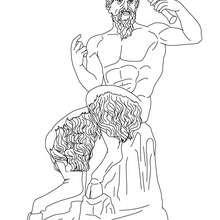 Desenho de PAN deus grego para colorir e pintar
