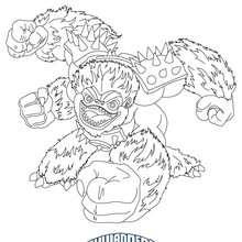 Desenho do SLAMBAM para colorir Skylanders Giants