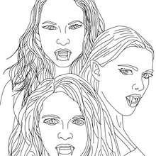 Desenho das 3 EMPUSAS para colorir