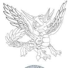 Desenho do WHIRLWIND para colorir Skylanders Giants