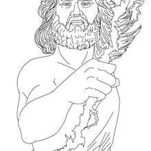 Desenho de ZEUS deus supremo para colorir