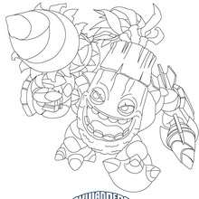 Desenho do ZOOK para colorir Skylanders Giants