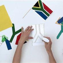 Como fazer a bandeira da África do Sul